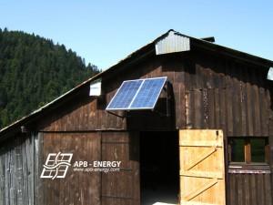 panneaux solaires montagne