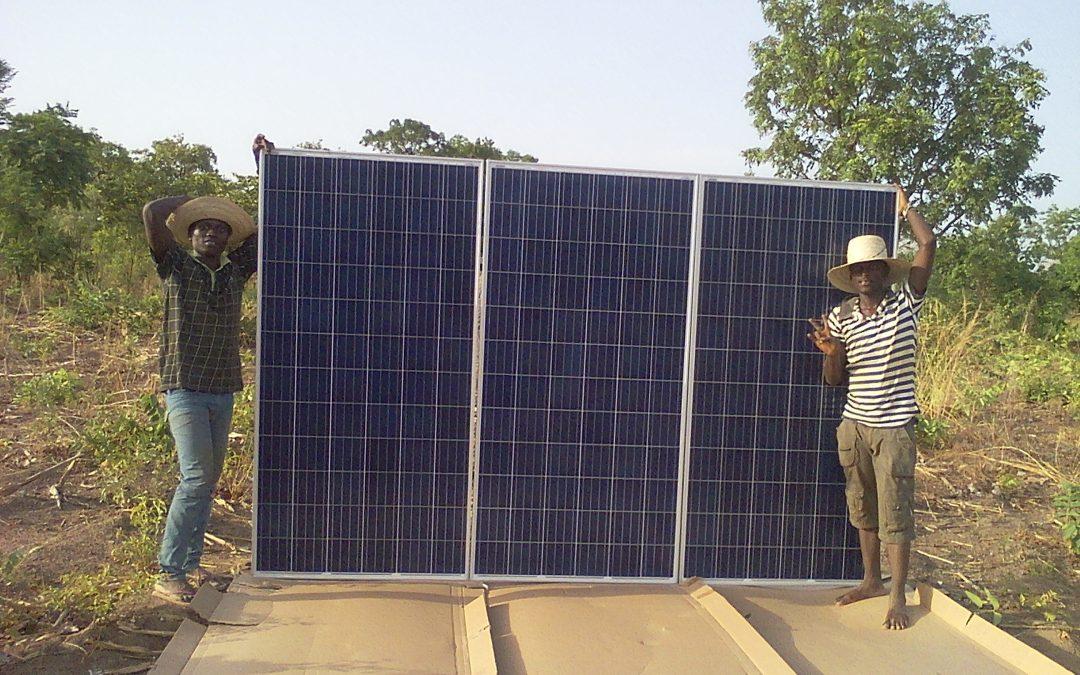 Installation d'une pompe solaire pour une école au Bénin