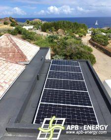 panneaux solaires St Barthélémy