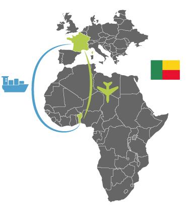 matériel solaire au Bénin