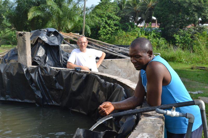 Pompage solaire pour un élevage de crevettes au Cameroun