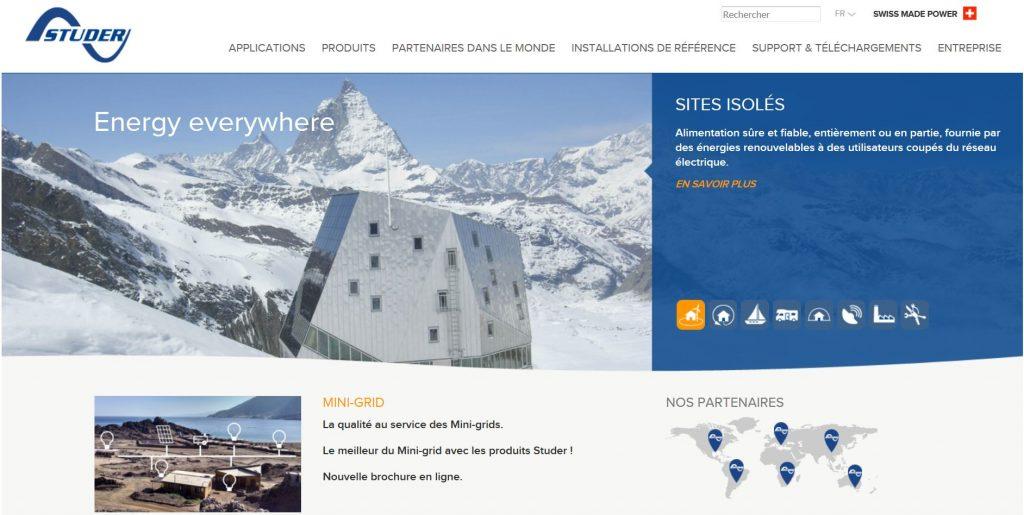 site web de studer innotec