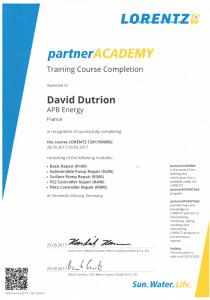 Certificat Formation Lorentz