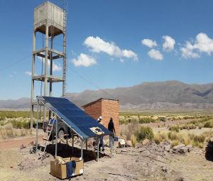 Douze systèmes de pompage solaire autonome pour l'accès à l'eau des communautés Quechua de Bolivie