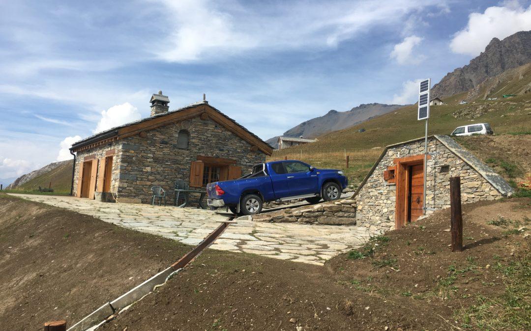 Installation solaire autonome pour un chalet d'alpage