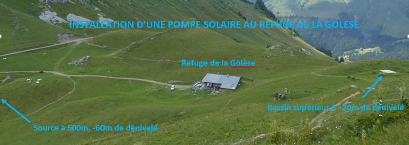 Résoudre le problème d'alimentation en eau d'un refuge grâce à une pompe solaire