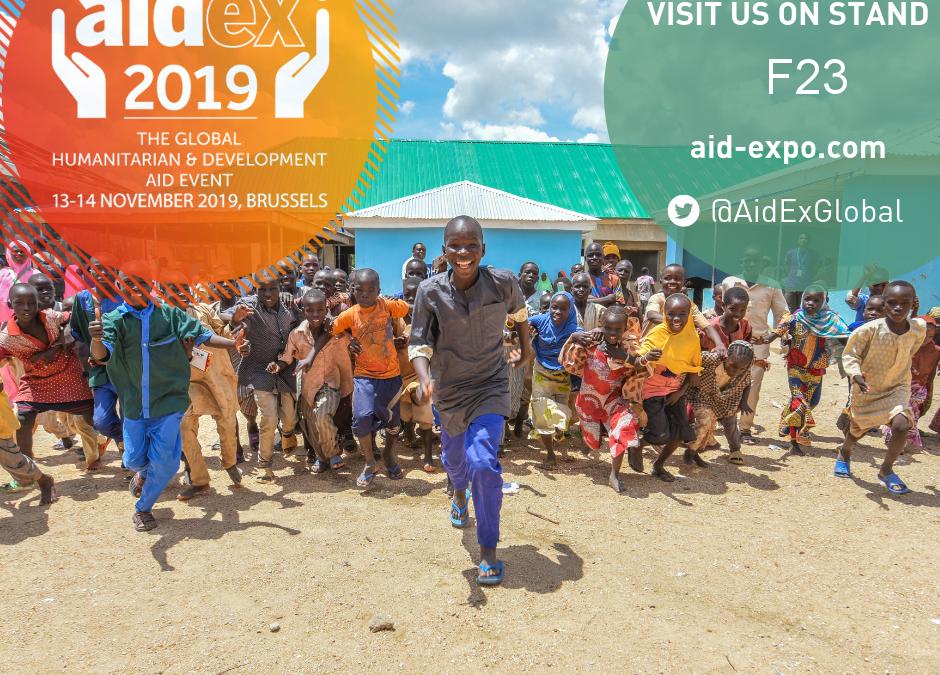 Rejoignez-nous sur le salon AIDEX Bruxelles les 13 et 14 Novembre 2019
